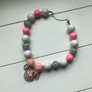 Chunky Necklace Bubblegum | Minnie Mouse Pink